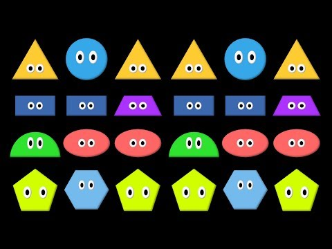 Patterns 3 - ABB,  AAB, & ABA Patterns with Shapes - The Kids' Picture Show (Fun & Educational)