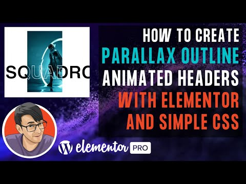 How to Create Parallax Outline Animated Headers/text with Elementor and Simple CSS