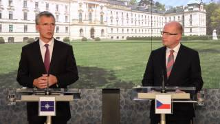 NATO Secretary General Joint press point with Prime Minister of the Czech Republic, 09 SEP 2015