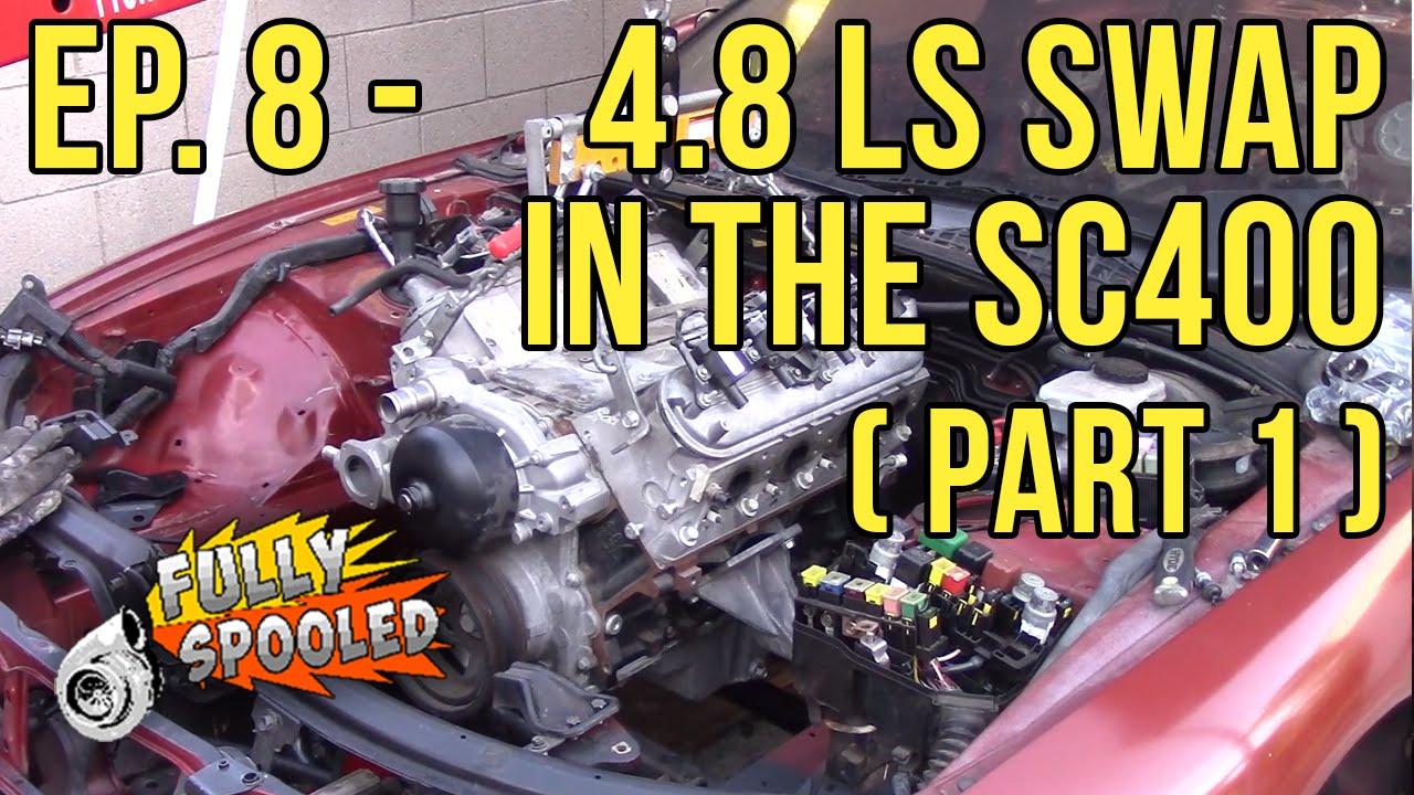 Lexus SC400 Drift Build  Ep 8 - LS Engine Swap! (Part 1)