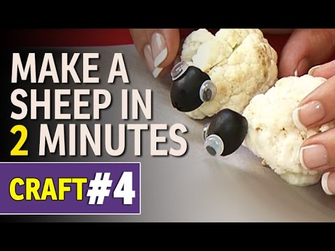 Diy Art And Craft Ideas Vegetable Craft How To Make A Sheep
