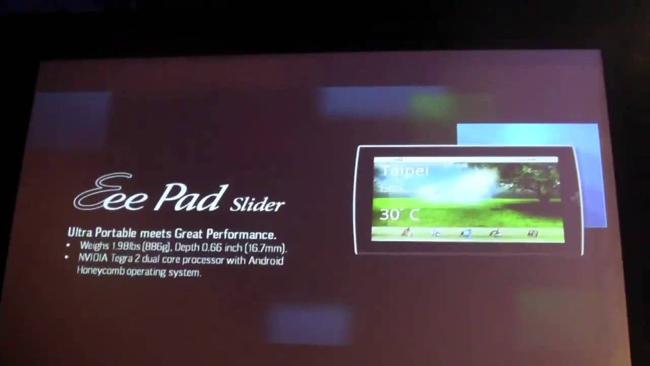 Asus Eee Pad Slider 101 Tablet That Reveals A Full Qwerty Keyboard