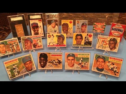 Vintage Baseball Card Collection - Aaron, Mays, Robinson, Koufax, Berra, Clemente!!
