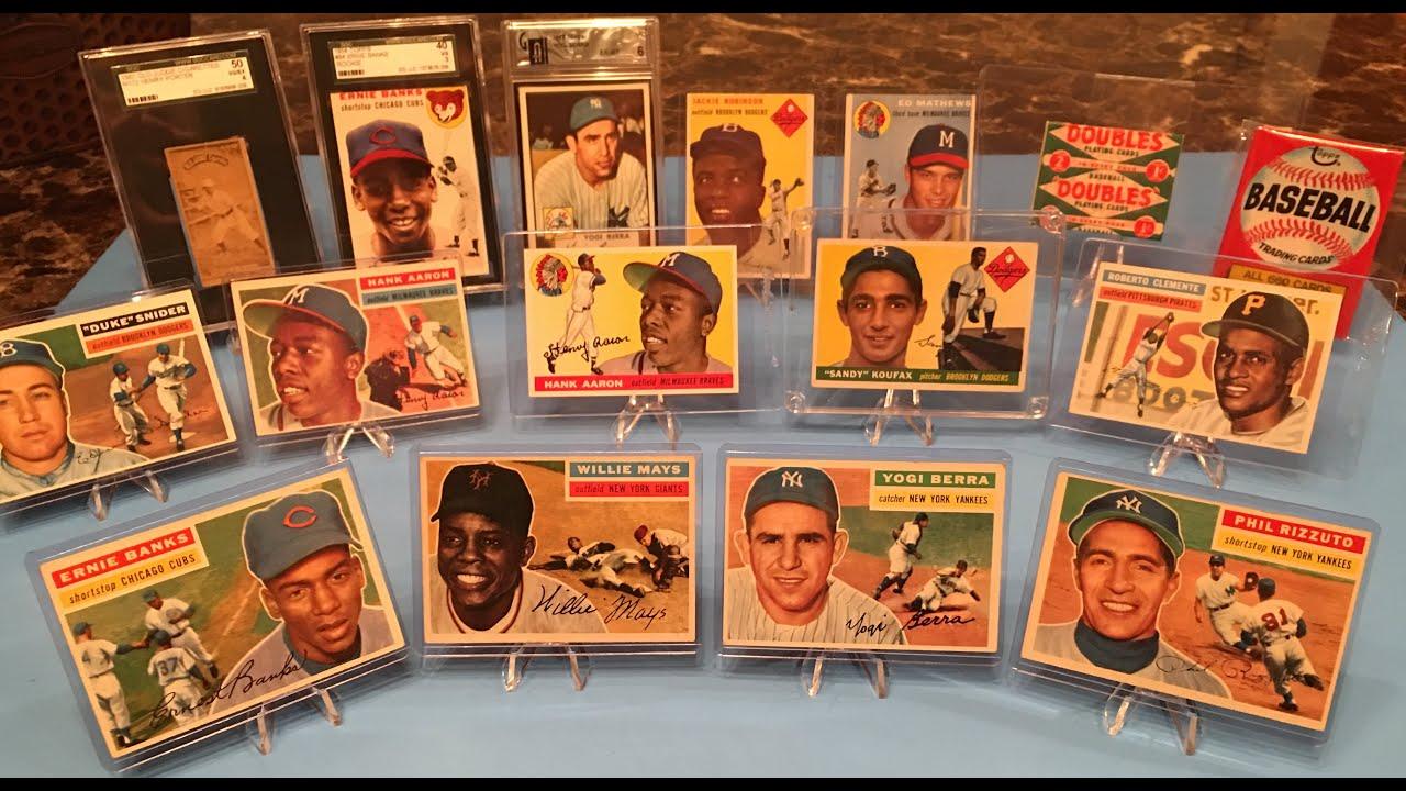 Vintage Baseball Card Collection Aaron Mays Robinson Koufax Berra Clemente