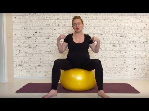 Фитбол для беременных. 37 неделя беременности. Беременность с Олант.
