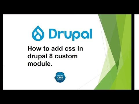 How to add css in drupal 8 custom module. thumbnail