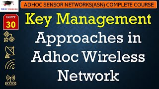 Key Management Approaches in Adhoc Wireless Network | ASN Lectures in Hindi