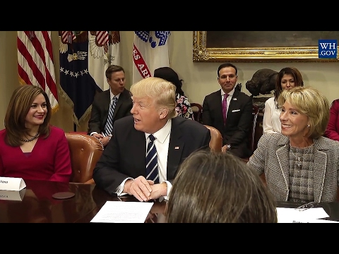President Trump: Parent Teacher Conference, Education Secretary - Betsy DaVos, 2/14/17
