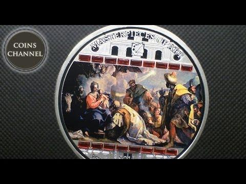 $20 Silver Coin Cook Islands 2013 - Masterpieces of Art Niccolo Bambini Adoration of Kings