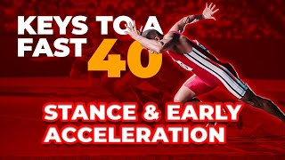 Keys to a fast 40 Yard Dash {Stance, Early Acceleration, and More!}