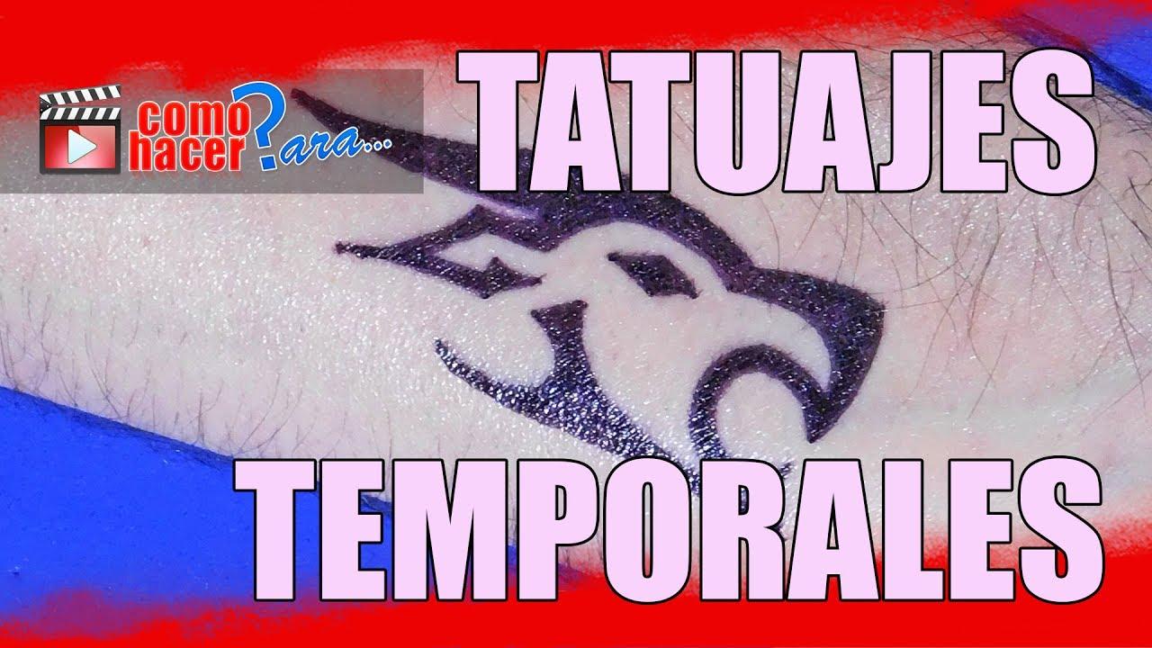 Cómo Hacer Tatuajes Temporales Caseros Youtube