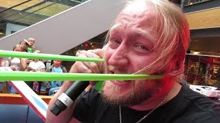 Giant Rubberband To Face! - Dudesons VLOG