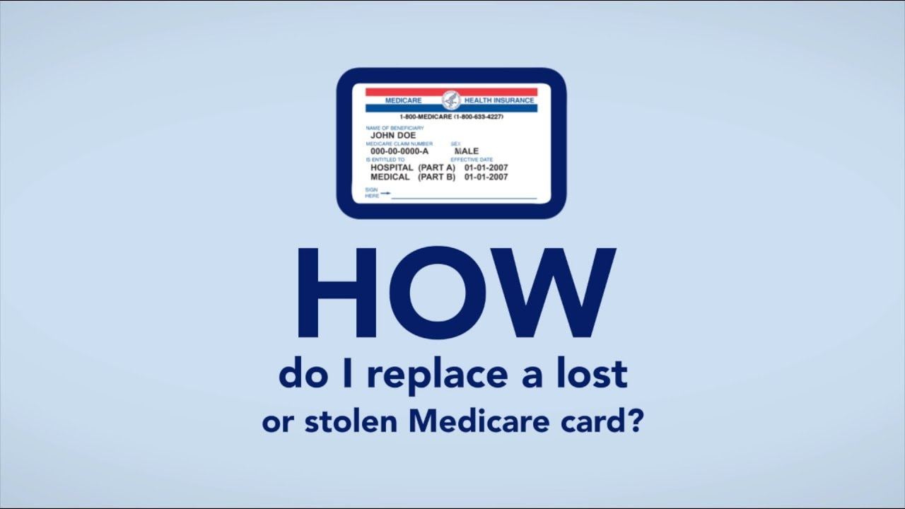 What to do if a Medicare card is lost, stolen, or damaged - Medicare