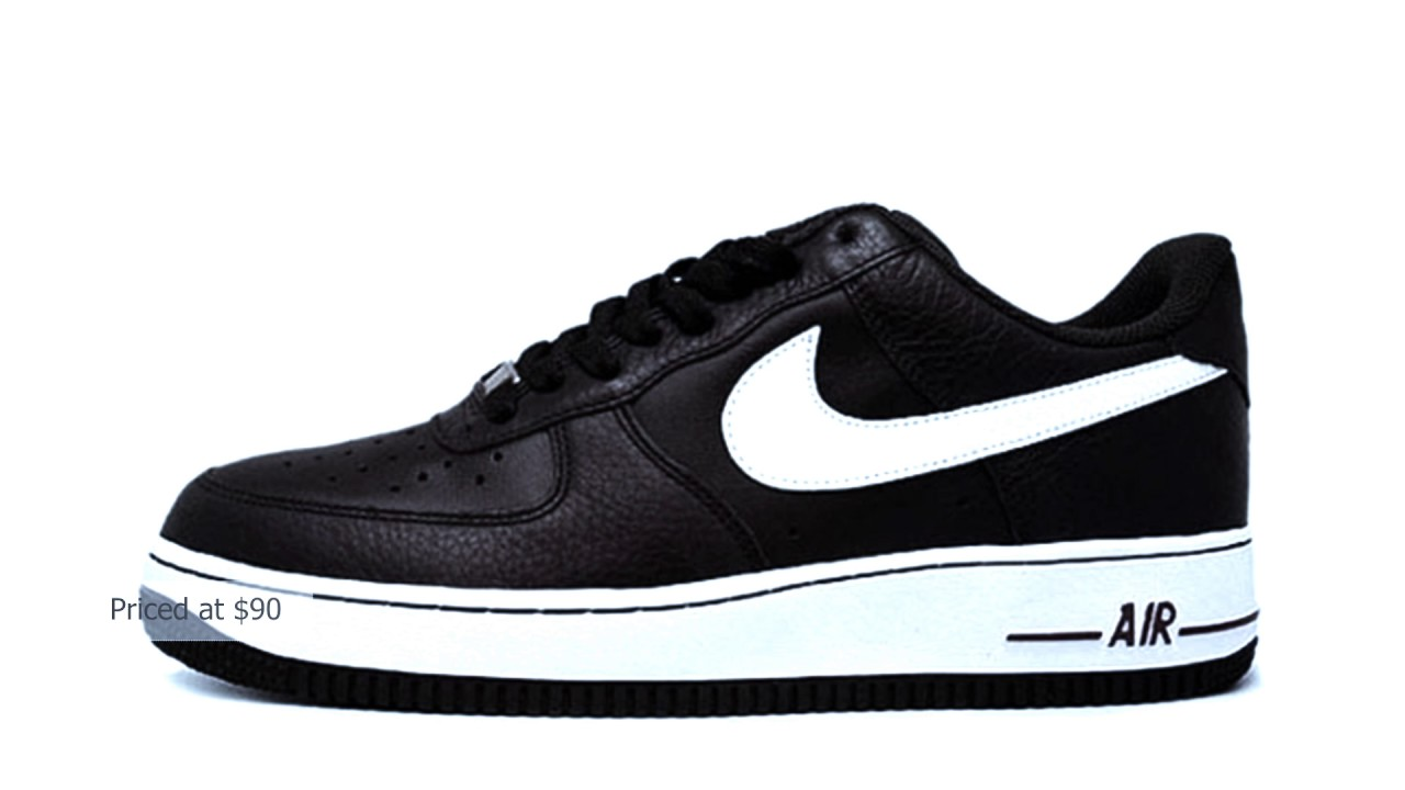 Nike Air Force 1  Bajo El Té Negro  1 Blanco Youtube f0aa5c