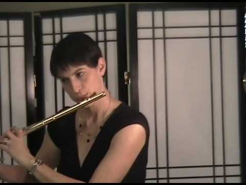 2009 Youtube Symphony Flute Audition Nina Perlove  Bach Bouree Anglaise