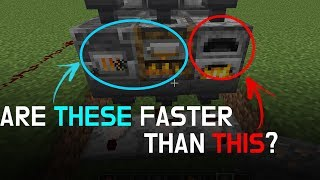 NEW FURNACES vs OLD FURNACE? - Minecraft 1.14 Experiment