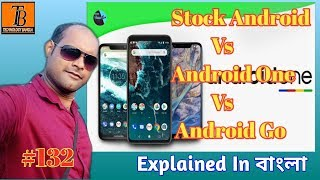 Stock Android Vs Android One Vs Android Go - The Basic Differences#technology Bangla