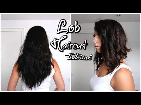 MODEL LOB HAIRCUT TUTORIAL