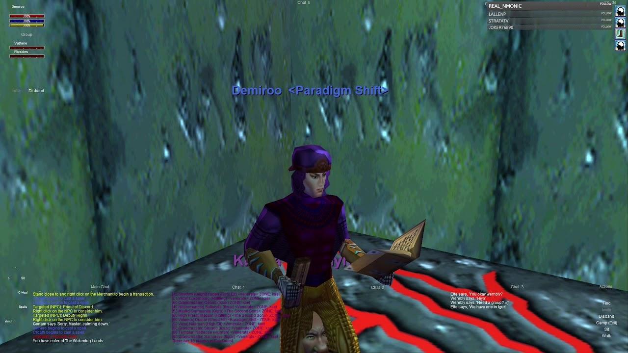 Everquest old school P99 : Part 446 - Exploring - Skyfire - High Elf Cleric