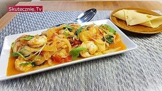 Cukinia z krewetkami i pomidorem (fit) :: Skutecznie.Tv