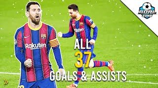 Lionel Messi - All 37 Goals & Assists 2020/21 So Far