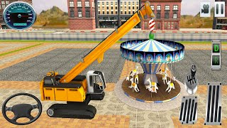 Steamkaroussell Transporting With a Huge Crane - Zoo Construction Game - Android GamePlay
