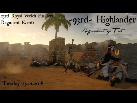 -93rd- Highlander - Tuesday 23rd RWF Event - 23.01.18