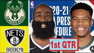 Brooklyn Nets vs Milwaukee Bucks Highlights 1st Quarter