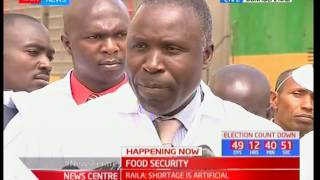 CS Willy Bett receives more maize following the recent shortage
