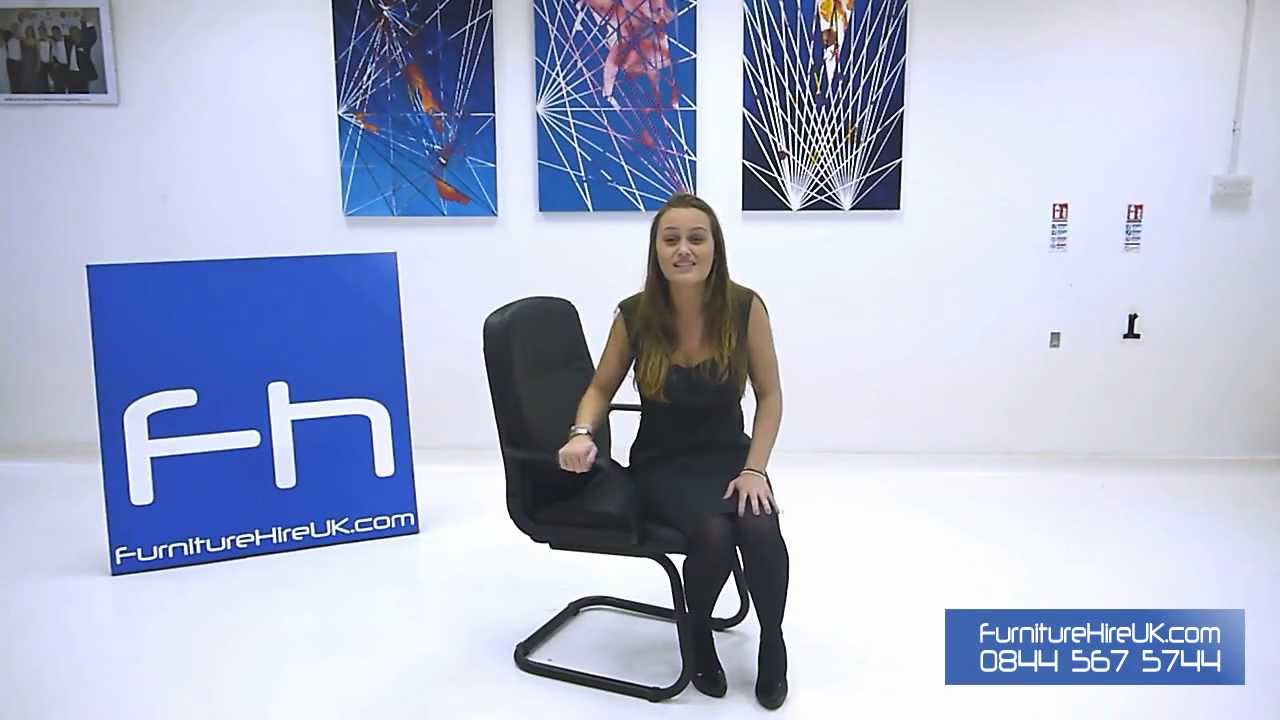 Leather Cantilever Chair Demo - Furniture Hire UK