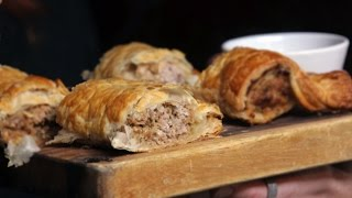 Homemade Stout Sausage Roll Ft. The Food Busker | The Craft Beer Channel
