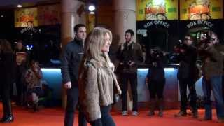 Tina Hobley attend the Harry Hill Movie World Premiere in London