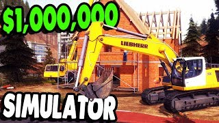 BUILDING $1,000,000 MANSION & HEAVY EQUIPMENT | CONSTRUCTION SIMULATOR 2015 GAMEPLAY