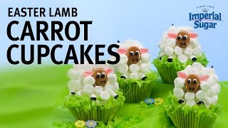 How to Make Marshmallow Easter Lamb Carrot Cupcakes