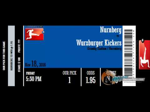 Nurnberg vs Wurzburger Kickers PREDICTION (by 007Soccerpicks.com)