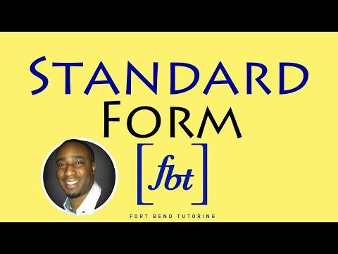 Writing Linear Equations: Standard Form [fbt]