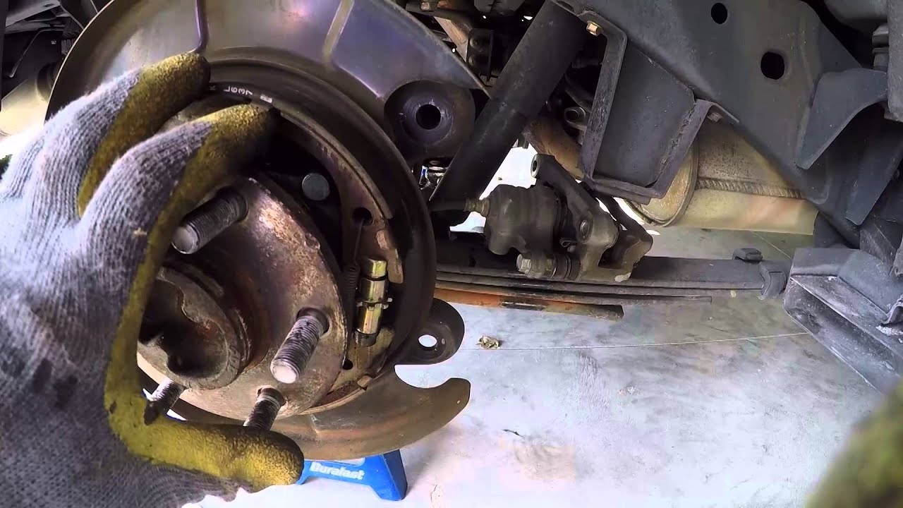 2005 Nissan Xterra Emergency Brake Adjustment Youtube