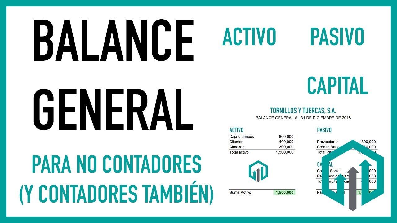 Balance General Paso A Paso Y Fácil