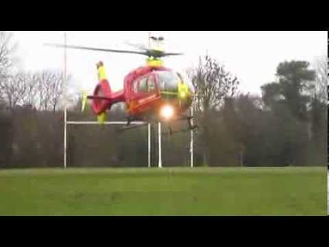 Rugby Game Air Ambulance Drama