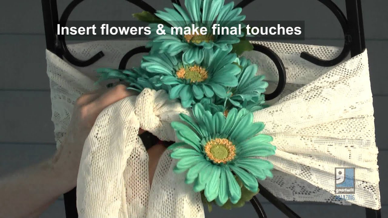 Do it yourself wedding projects reception chair decorating ideas do it yourself wedding projects reception chair decorating ideas by merri cvetan youtube solutioingenieria Image collections