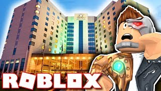 A DAY WITH THE CREW AT THE HILTON HOTEL!! (Roblox)