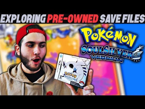 A FAN SENT ME THIS!! | EXPLORING PRE-OWNED SAVE FILES! - Pokemon Soul Silver COMPLETE IN BOX!