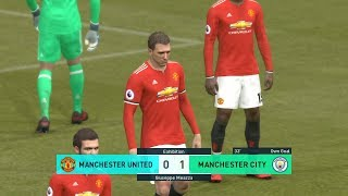 PES 2018 PS3 - MANCHESTER UNITED vs MANCHESTER CITY - CPU VS CPU - Football game