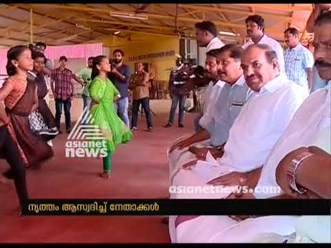 Chengannur candidates campaigning at dance school in chengannur