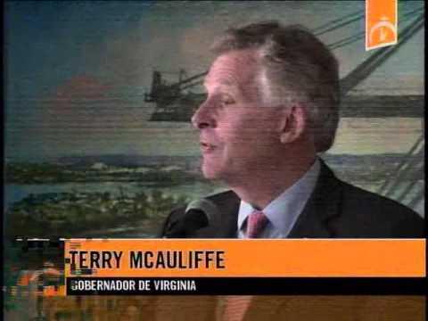 Visita del gobernador del Estado de Virginia, Terry McAuliffe al Mariel
