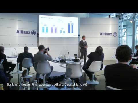 Finanzvorstand der Allianz Deutschland-AG Keese: 2017 über 10 Mrd. Umsatz