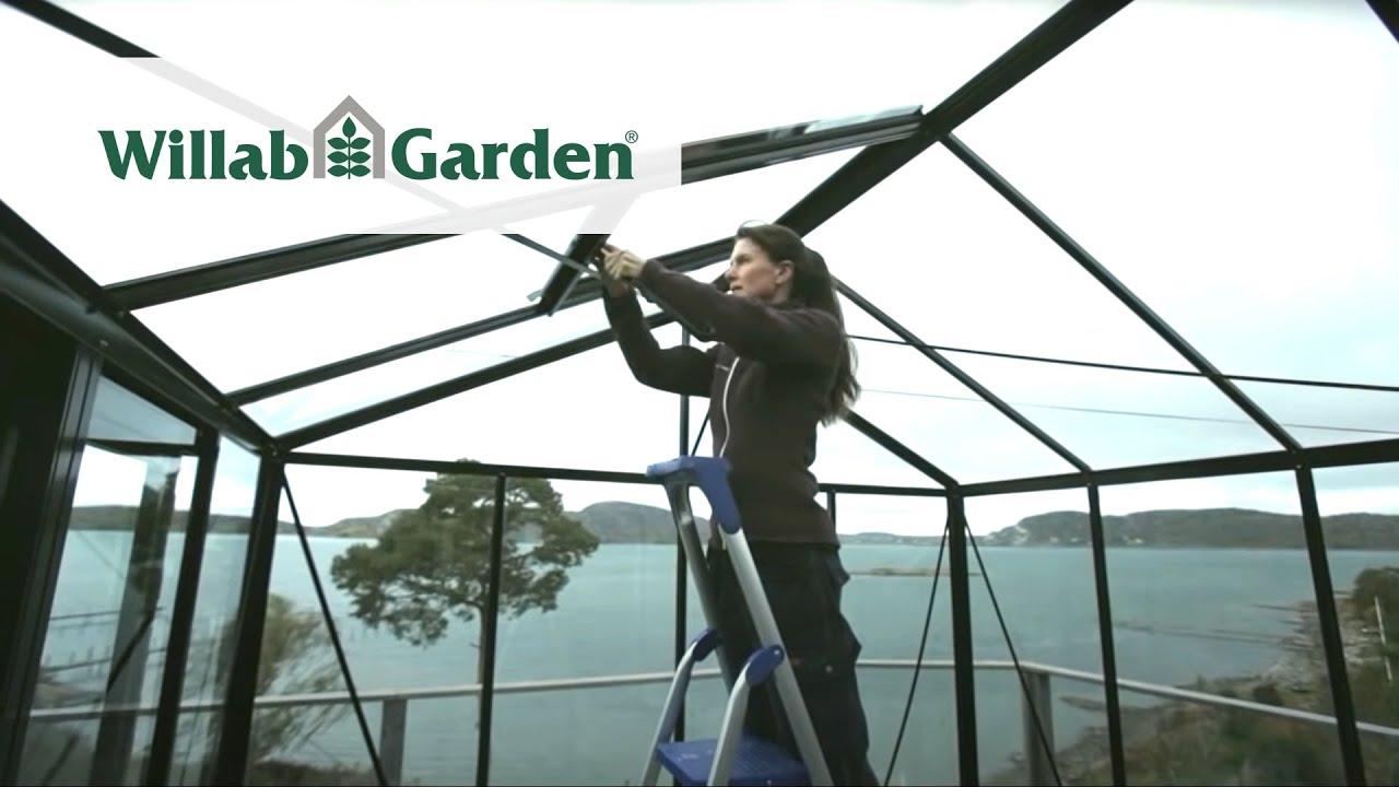 Willab Garden Monteringsfilm Växthus Maxi 4 - YouTube