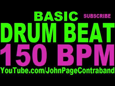 Basic Straight Drum Beat Loop 150 bpm HALF HOUR LONG 4/4 Metronome
