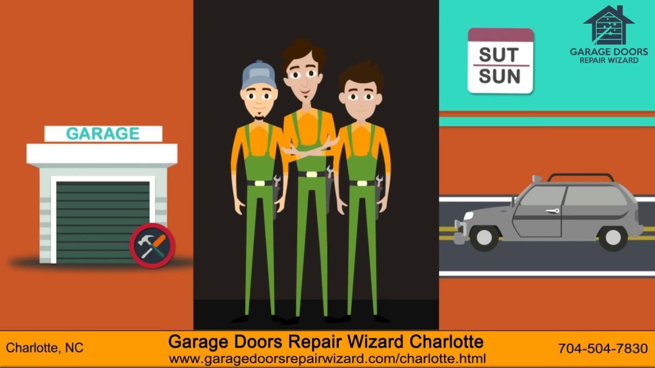 Garage Door Repair Charlotte Nc Youtube