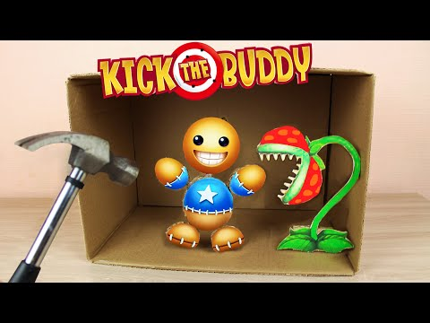 Kick The Buddy Game from Cardboard – How to Make Antistress Toy